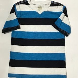 FADED GLORY HAWAIIAN STRIPED TEE SIZE 6/7 (I-75)